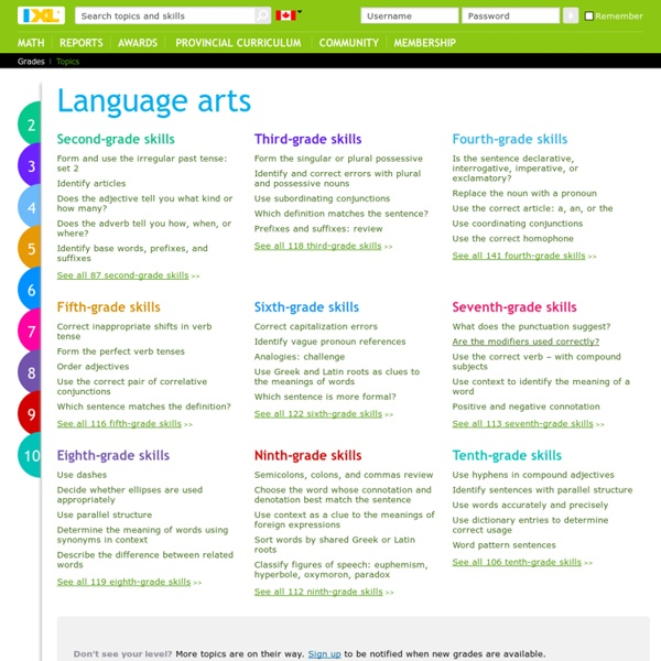 Online English language arts practice
