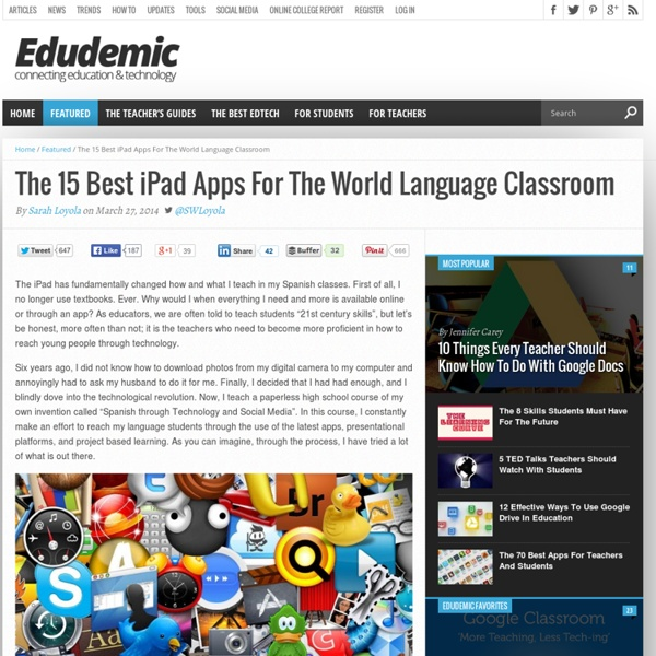 The 15 Best iPad Apps For The World Language Classroom