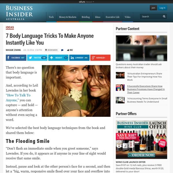 7 Body Language Tricks To Make Anyone Instantly Like You