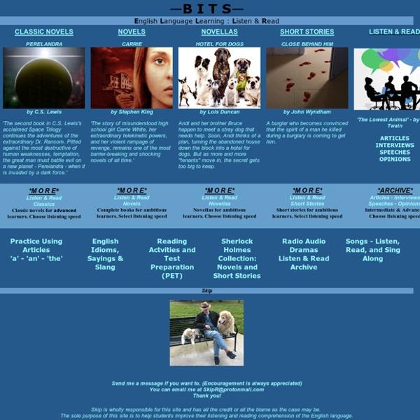 ESL English Language Learning - Adult Literacy - Listening & Reading - Audiobooks - Stories