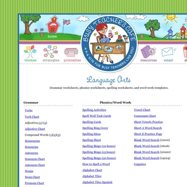 Language Arts Printables Grammar Worksheets Phonics Worksheets