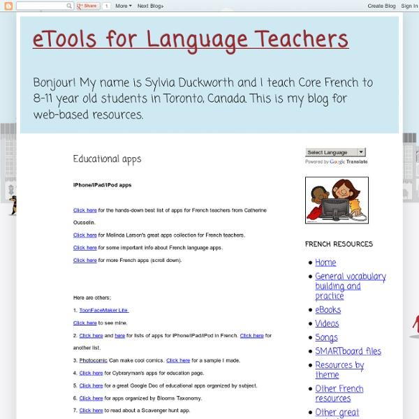 eTools for Language Teachers: Educational apps