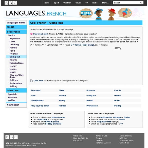 Languages - French - Cool French - Going out - StumbleUpon