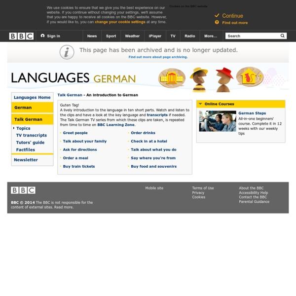 Languages - German - Talk German - An introduction to German