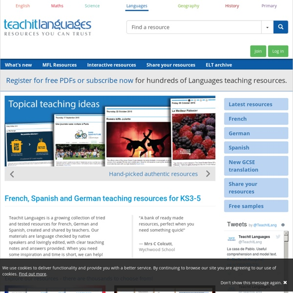 Teachit ELT ELT resources - resources for young learners