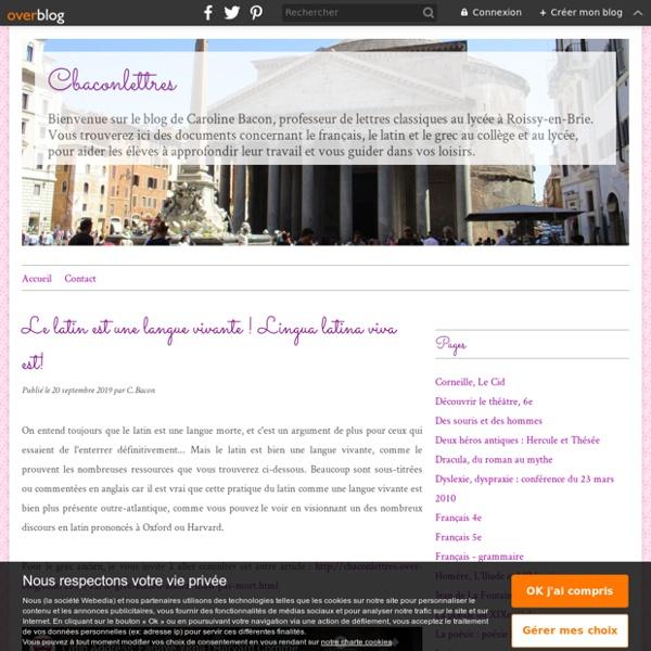 Le latin est une langue vivante ! Lingua latina viva est! - Le blog de C. Bacon
