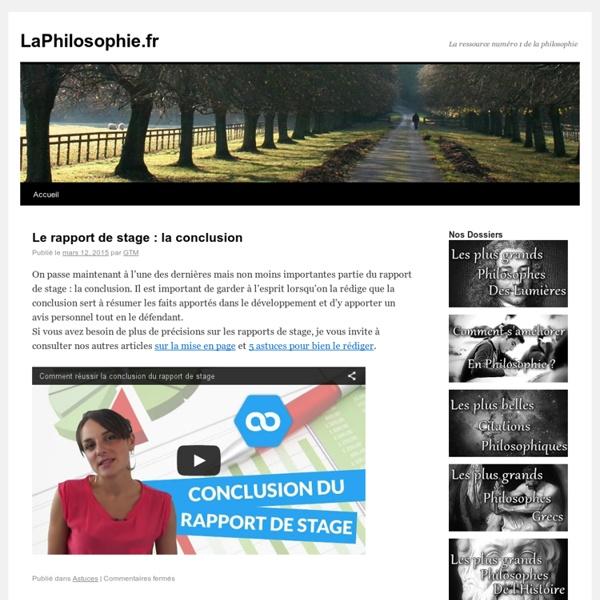 LaPhilosophie.fr - La ressource numéro 1 de la philosophie