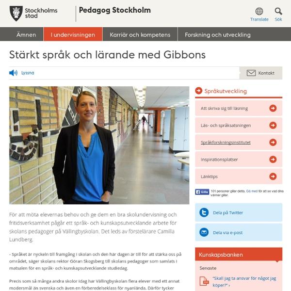 Stärkt språk och lärande med Gibbons