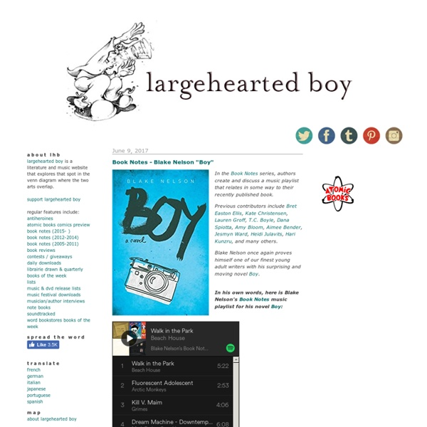 Largehearted boy: a music and literature blog