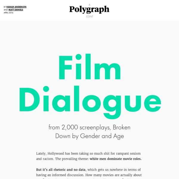 The Largest Ever Analysis of Film Dialogue by Gender: 2,000 scripts, 25,000 actors, 4 million lines