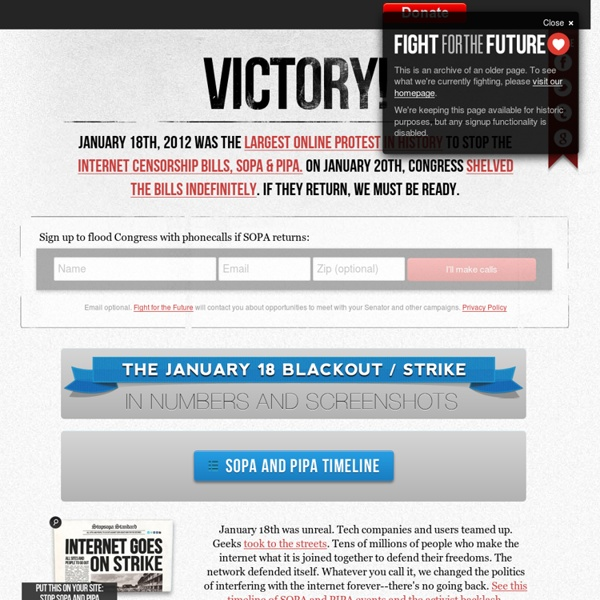 STRIKE AGAINST SOPA