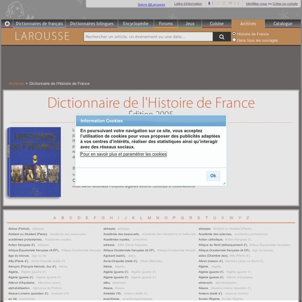 Dictionnaire de l'Histoire de France - Larousse