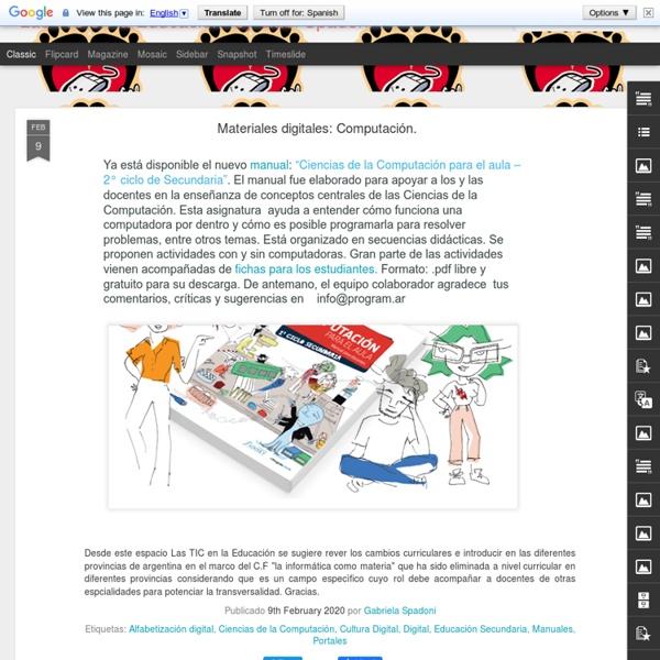 """""""Las TIC en la Educación"""" by Gabi Spadoni"""
