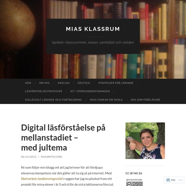 Digital läsförståelse på mellanstadiet – med jultema