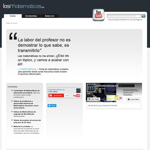 Lasmatematicas.es - Videos y ejercicios resueltos de matematicas