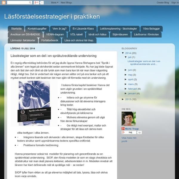 Lässtrategier som en del i en språkutvecklande undervisning