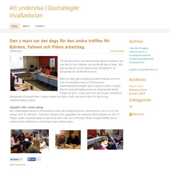 Att undervisa i lässtrategier Vivallaskolan - Blog