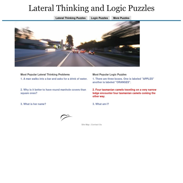 Lateral Thinking and Logic Puzzles