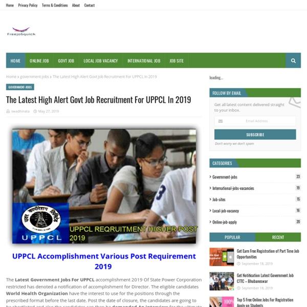 The Latest High Alert Govt Job Recruitment For UPPCL In 2019