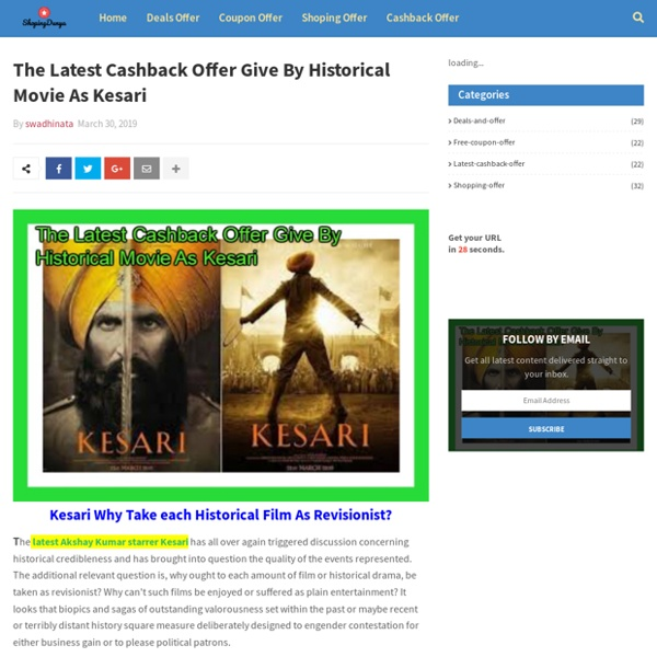 The Latest Cashback Offer Give By Historical Movie As Kesari