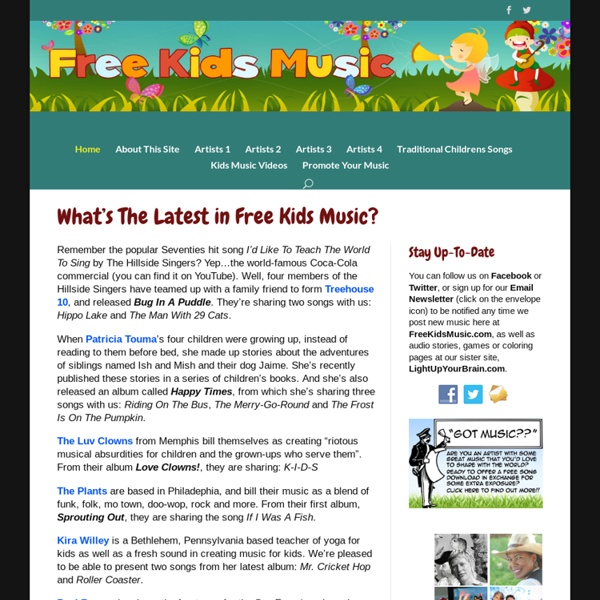 Free MP3 song downloads for children!