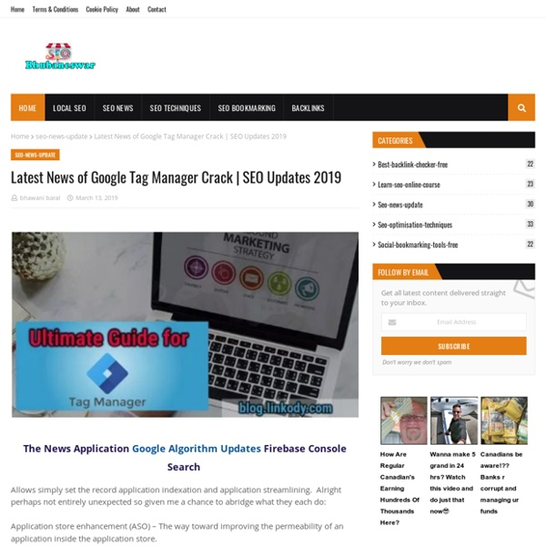 Latest News of Google Tag Manager Crack