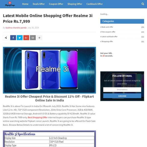 Latest Mobile Online Shopping Offer Realme 3i Price Rs.7,999