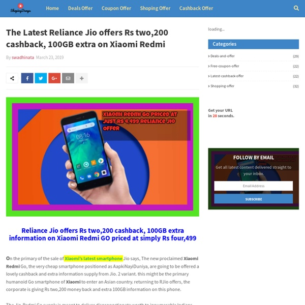 The Latest Reliance Jio offers Rs two,200 cashback, 100GB extra on Xiaomi Redmi