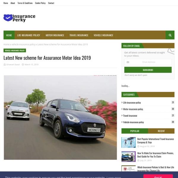 Latest New scheme for Assurance Motor Idea 2019