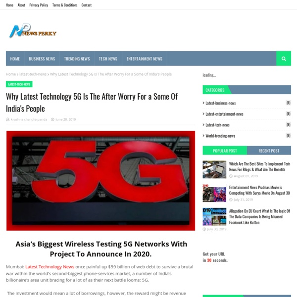 Why Latest Technology 5G Is The After Worry For a Some Of India's People