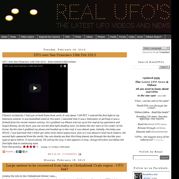 Real UFOs - The latest UFO Videos and News ovnis