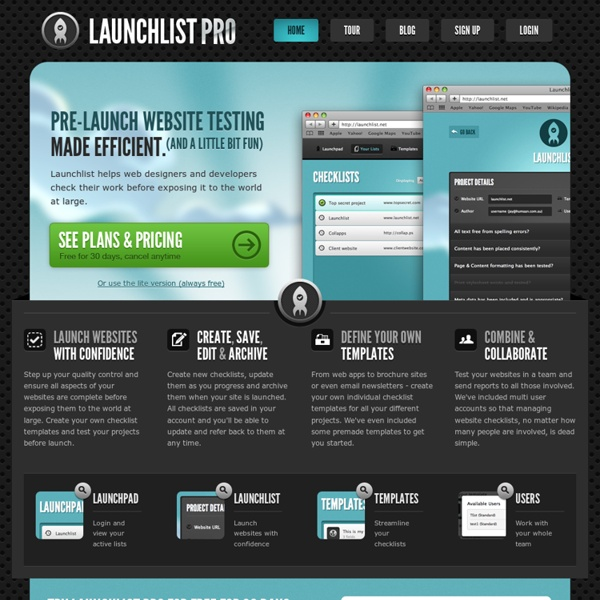 Launchlist Pro - The ultimate website checklist application.