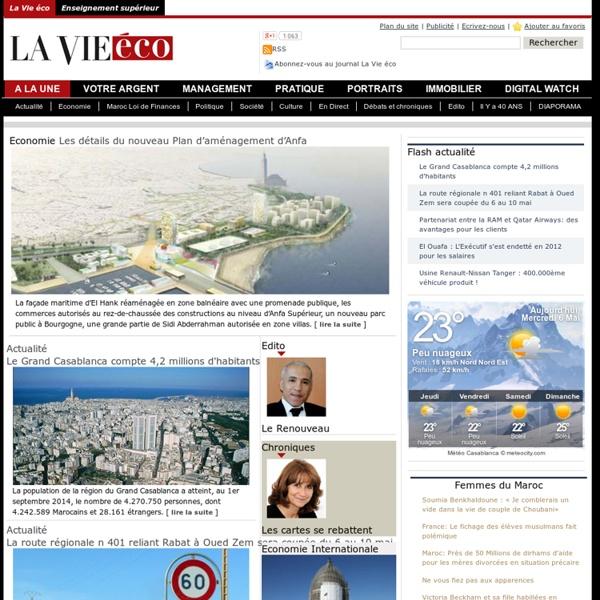 Lavieeco.com : Actualité du Maroc à la Une