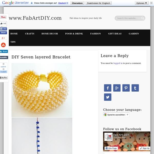DIY Seven layered Bracelet