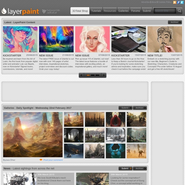 // LayerPaint.com - 2d artists homepage with fresh 2d industry news //