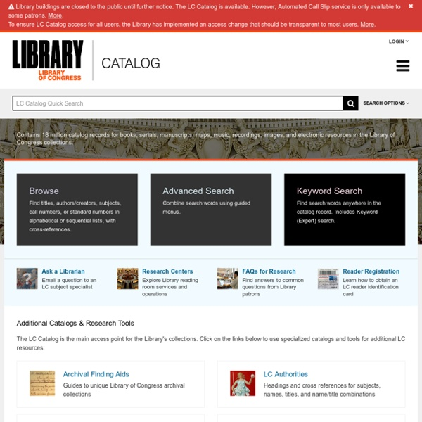 Library of Congress Online Catalogs