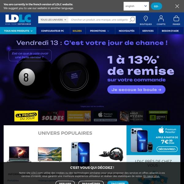 LDLC.com - Ordinateurs, pièces et périphériques pour PC