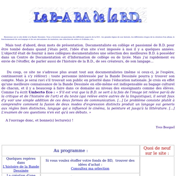 Le B-A BA de la BD