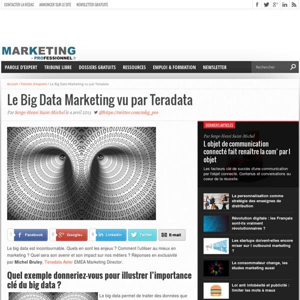 Le Big Data Marketing vu par Teradata