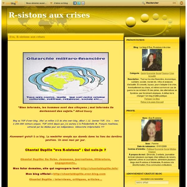 Le blog d' Eva, R-sistons à la crise