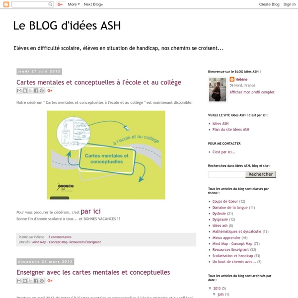 Le BLOG d'idées ASH