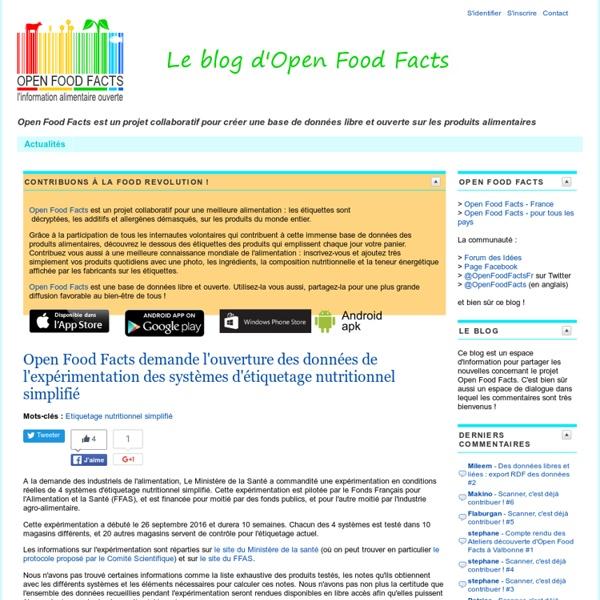 Le blog d'Open Food Facts