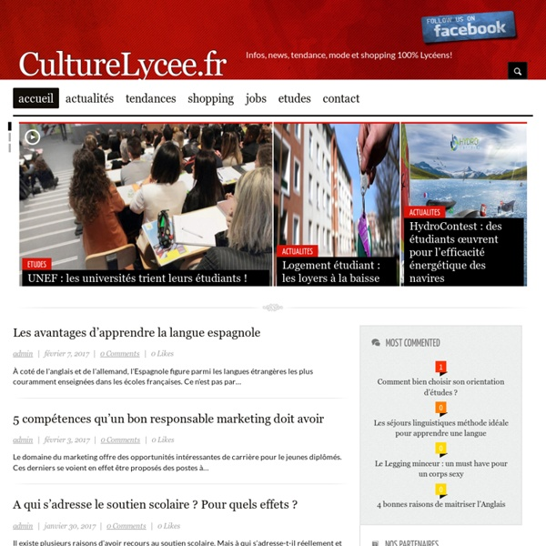 Culture Lycée - Les grands classiques du patrimoine culturel dans votre lycée
