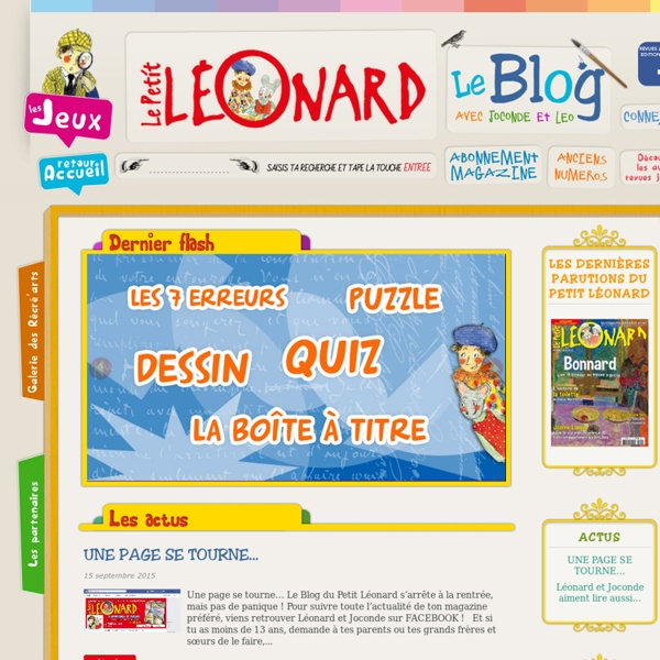 Le Blog du Petit Léonard