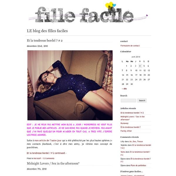 LE blog des filles faciles :