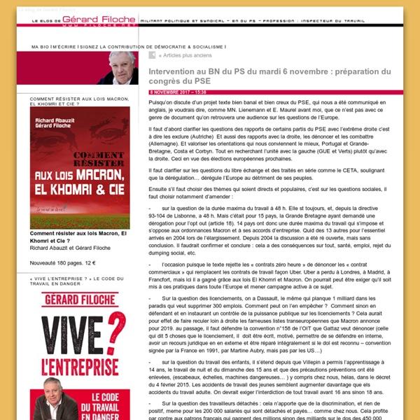 Le blog de Gérard Filoche