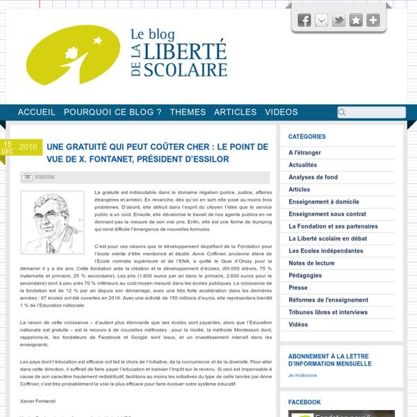 Le blog de la liberté scolaire !