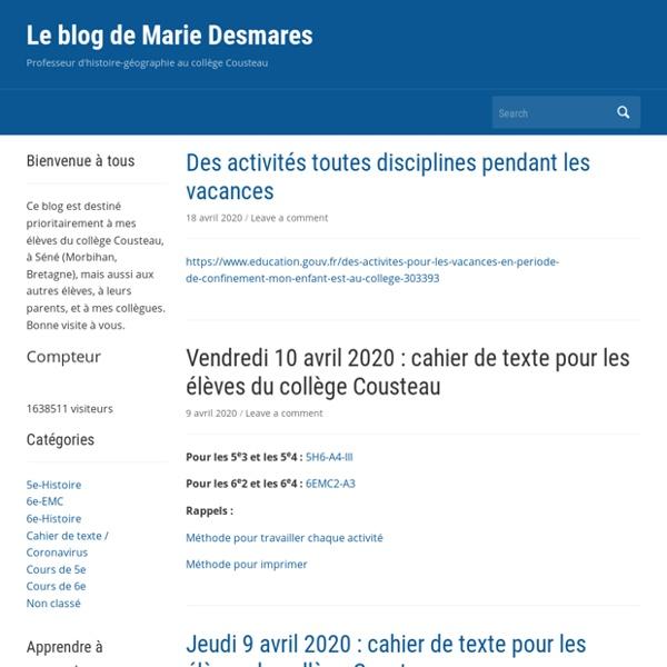 Le blog de Marie Desmares