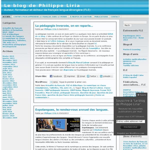 Le blog de Philippe Liria