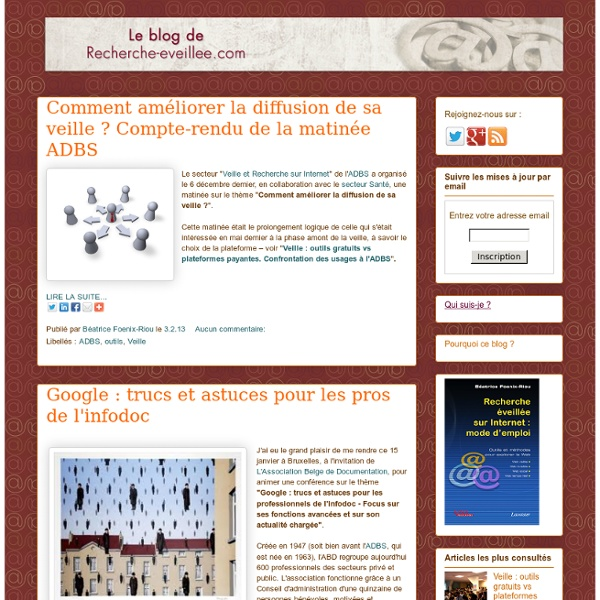 Le blog de Recherche-eveillee.com